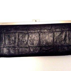 NEW Minicci Clutch Wallet Faux Leather Black